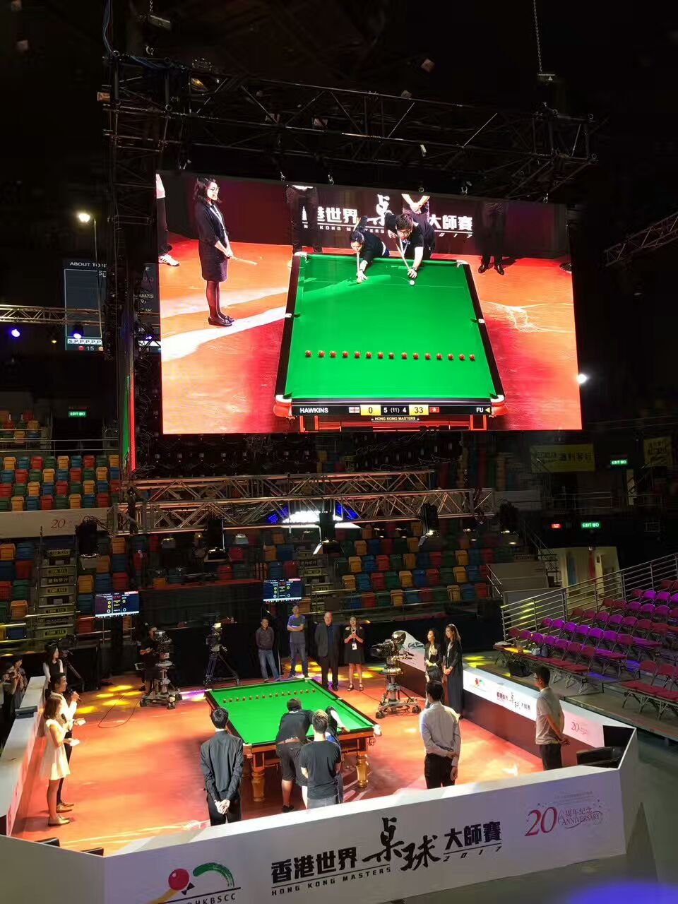 LED fresnel spotlights for Billiards Masters
